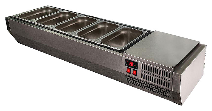 Витрина холодильная POLAIR VT2-G с крышкой